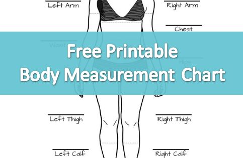 Free Printable Body Measurement Chart Perfect for Tracking Weight Loss Progress -