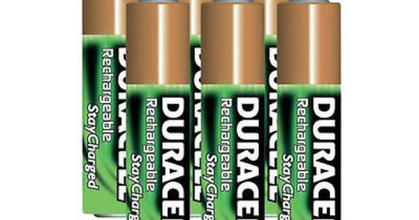 Duracell Aaa 6 Pack Pre Charged Rechargeable Stay Charged 800mah Aaa Batteries Duracell Rechargeable Batteries Recharge