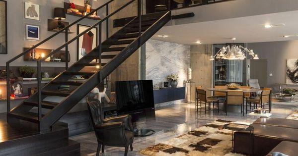Mille et une id es pour le salon style industriel en 44 photos voyez les derni res tendances for Grand tapis style industriel