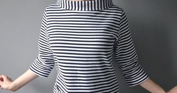 Tilly and the Buttons: Sixties Stripe Coco - love the funnel neck