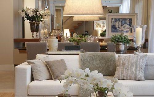 Sala de esatr decorada no estilo contempor neo com sof for Sala estilo contemporaneo