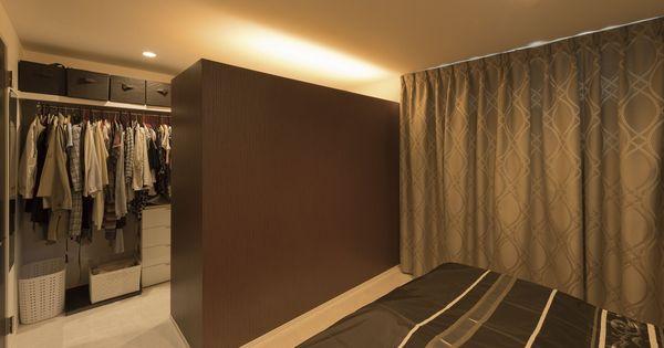 ライティングにこだわった寝室 狭小住宅でも収納スペースも充実 狭小住宅 模様替え 自宅で