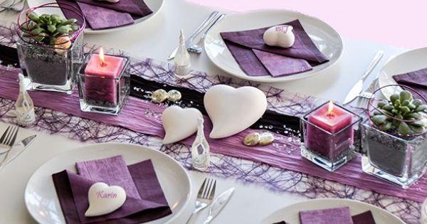 Aubergine und flieder sind die tischdeko trendfarben der - Tischdeko aubergine ...