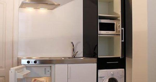Micrococina ba os pinterest cocina peque a - Cocinas y banos pequenos ...