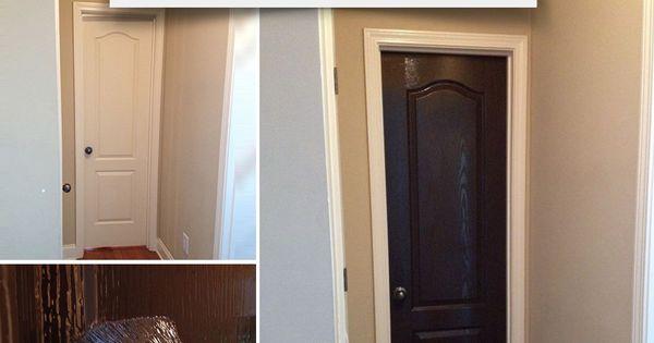 Revamp An Interior Door With A Dark Coat Of Trim Amp Door