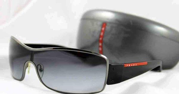 Prada Mens Designer Aviator Sunglasses Model Sps 52es
