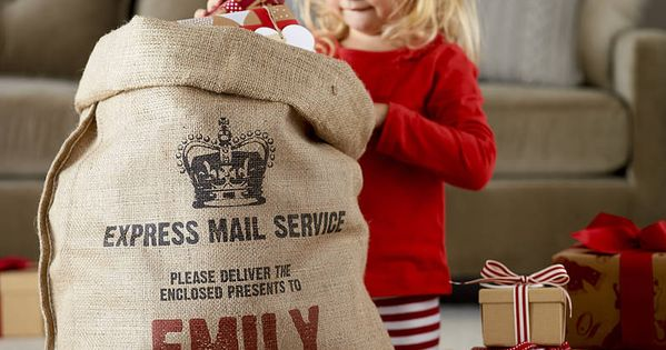 Very unique and cute idea! Personalized Christmas sack: Perfect for large gifts