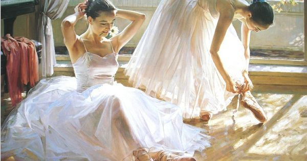 Pinturas de env o libre de los bailarines de ballet cuadro - Pintura al aceite ...