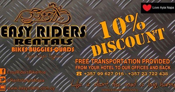 Easy Riders Rentals Ayia Napa Discount Coupon Easy Rider Ayia