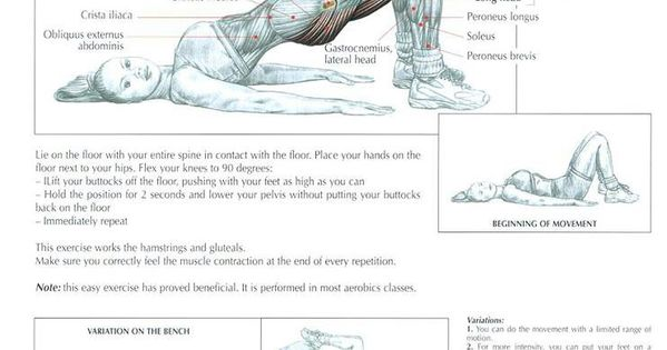 Butt workout - Bridging ~ Re-Pinned by Crossed Irons ...