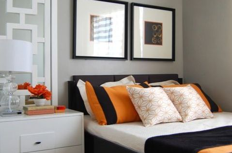 image result for orange grey and mahogany bedroom | bedroom