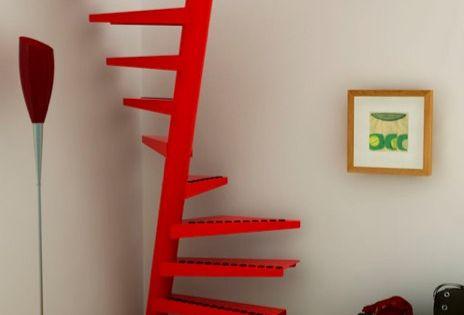 Escaleras en poco espacio escaleras pinterest for Escaleras exteriores en poco espacio