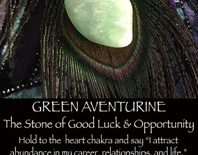 Find Good Luck Stone : Green aventurine is the stone of good luck and opportunity