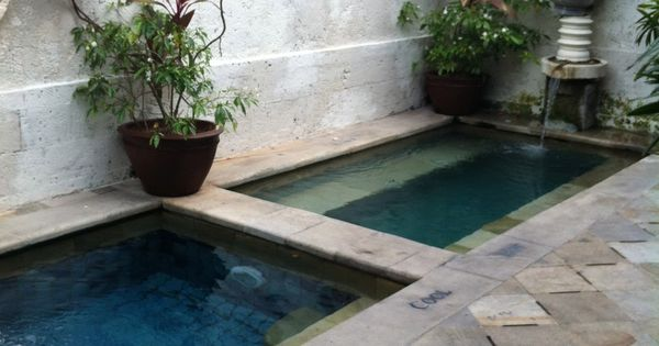 Courtyard with small pools spas patio design pinterest for Courtyard designs with spa