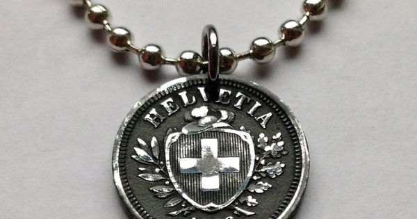 1942 or 1946 switzerland 1 rappen coin pendant necklace for Jewelry stores in geneva switzerland