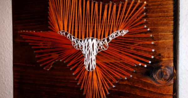 String art texas longhorns state texas longhorns for Stuff to make with string