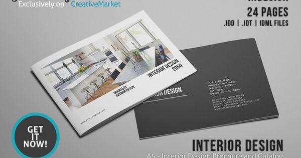 A5 Interior Design Brochure Catalog | Shops, Real estate ...