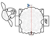 Paper Lamb Krokotak Animal Nursery Rhymes Pattern Paper Farm Preschool