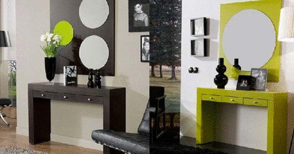 Dos recibidores modernos para habitar espacios peque os y dotarlos de personalidad recibidores - Recibidores pequenos modernos ...