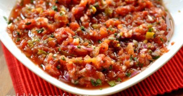 Divine One Minute Salsa Recipe Appetizer Recipes Food Recipes Mexican Food Recipes