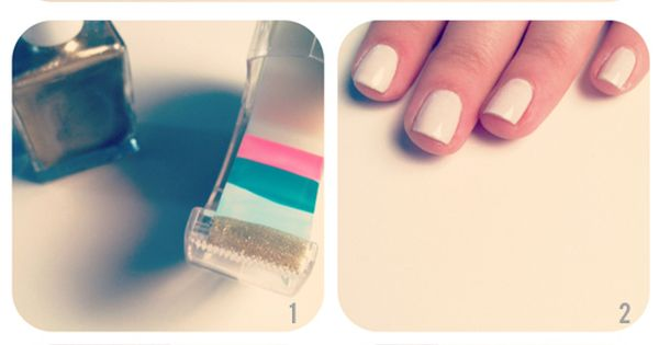 Another cute use for those DIY nail stickers! xo nail art 》this