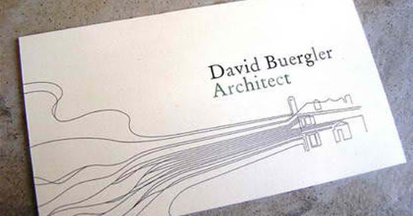 Carte De Visite Architecte Architecture Business Cards Business Cards Creative Business Card Design Inspiration