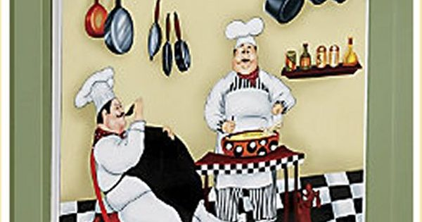 Italian Chef Kitchen Decor Items Fat Chef Dishwasher