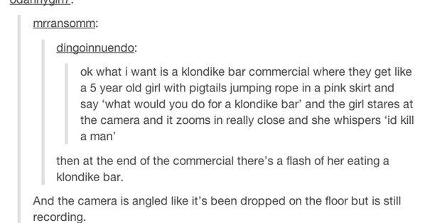 Klondike Bar Murder. Tumblr Funny_Tumblr Humor