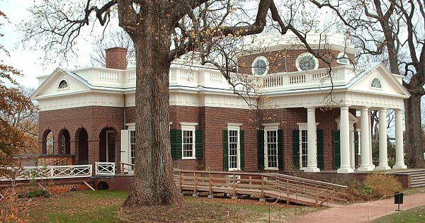Monticello thomas jefferson 39 s home favorite places for Casa revival gotica