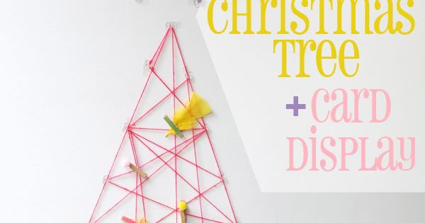 A String-Art Card Display >> 51 Hopelessly Adorable DIY Christmas Decorations