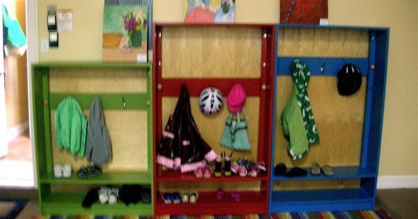 Coat and shoe racks for kids adjustable hook board for Rack room kids shoes