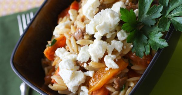 and peppers | EAT | Pinterest | Orzo, Sausage And Peppers and Sausages ...