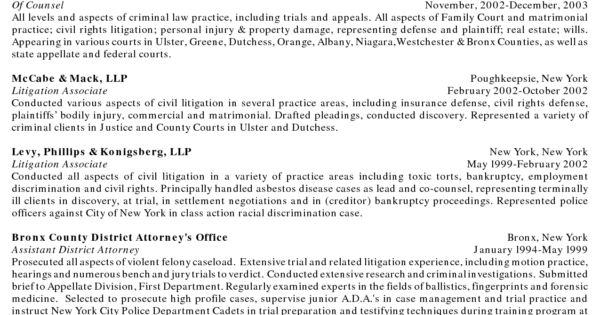 Image result for litigation associate attorney resume sample Law - pretrial officer sample resume