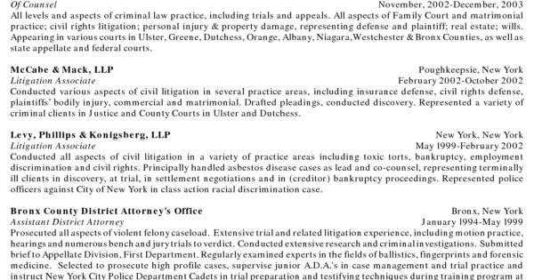 Image result for litigation associate attorney resume sample Law - pretrial officer sample resume