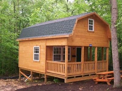 Gambrel Cabins For Sale In Ohio Amish Buildings Shed To Tiny