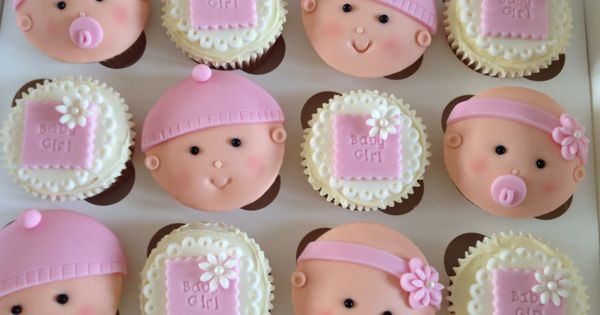 Baby girl cupcakes baby shower cakes pinterest baby for Baby shower cupcake decoration ideas