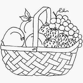 Fruit Basket Pictures For Kids Colour Drawing Hd Wallpaper Fruit Basket Drawing Fruit Coloring Pages Basket Drawing