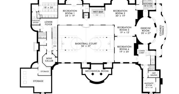 Basement Floor Plan Of 1 Frick Drive 30 000 Square Feet