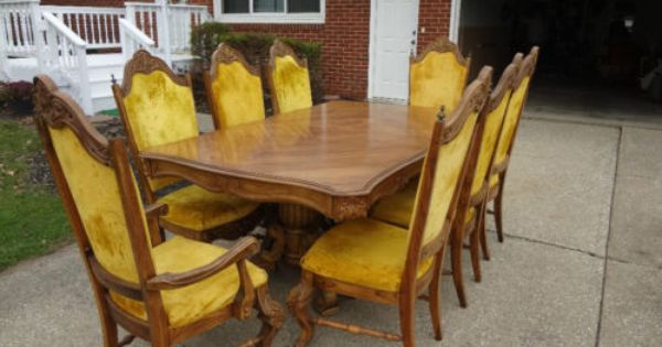Pulaski Furniture Dining Room Set Table Chairs 1970 S