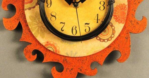 Unique wood wall clock duane scherer funky traditional a7 wall clock wall clocks mirrors - Funky cuckoo clock ...