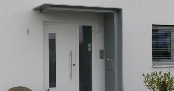 alu vordach mit seitenteil und briefkasten karlsruhe neureut porte ingresso pinterest. Black Bedroom Furniture Sets. Home Design Ideas