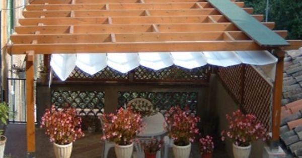 Vista de arriba de pergola dise ada para terraza de for Viviendas para terrazas