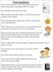 Kitchen Safety Rules Kitchen Safety Cooking Classes For Kids