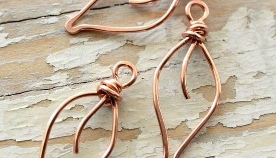 Copper Wire Jewelry- leaf pendants