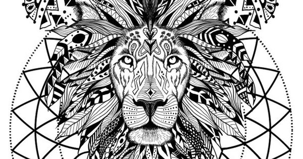 Wild And Free Spirit Animals Printable Coloring Book
