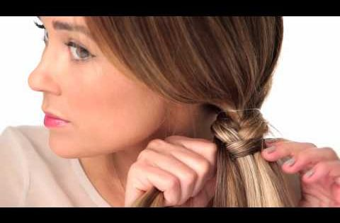 Lauren Conrad fishtail braid tutorial