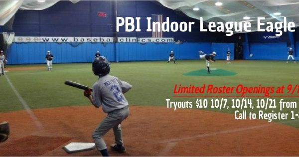 Http Www Baseballclinics Com Play Indoor Baseball This Winter At Pbi Baseball Baseball League Baseball Field
