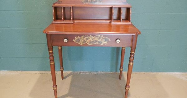 L hitchcock paint decorated 1 drawer letter writing desk for Furniture 5 letters