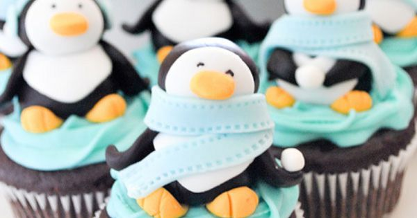 penguin cupcakes christmas dessert kids party