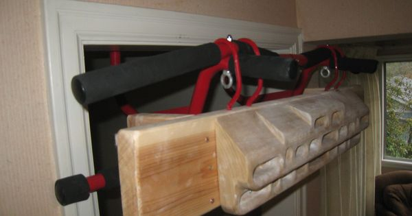 Mounting A Hangboard Without Drilling Holes In Your Wall Hangboard Bouldering Wall Woodworking Projects Diy